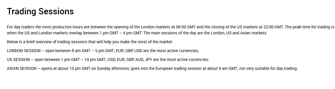 xm broker trading sessions